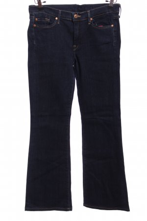 7 For All Mankind Five-Pocket-Hose blau Casual-Look