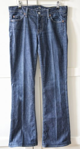 7 For All Mankind Jeans taille basse bleu