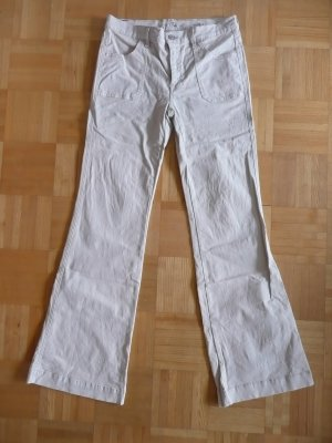 7 For All Mankind Flares beige-white
