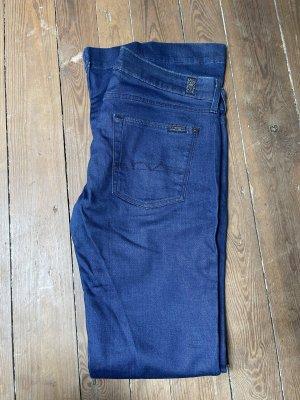 7 For All Mankind Jeans a zampa d'elefante blu scuro-blu