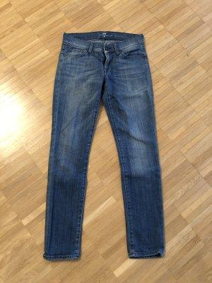 7 For All Mankind Skinny jeans korenblauw