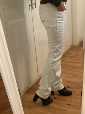 7 For All Mankind Jeansy z prostymi nogawkami biały