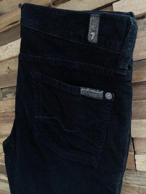 7 For All Mankind Pantalon en velours côtelé noir velours côtelé