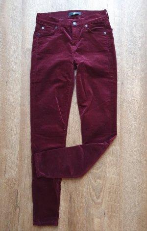 7 for all mankind Gwenevere Velvet Skinny Pants Jeans samt herbst boho Weihnachten