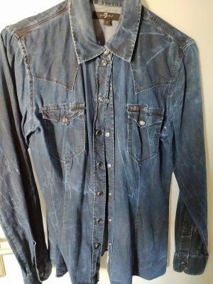 7 For All Mankind Camicia blusa blu scuro