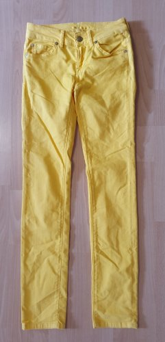 7 For All Mankind High Waist Ankle Skinny Trendfarbe gelb