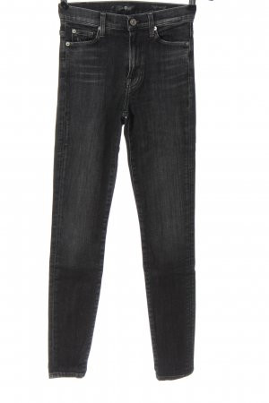 7 For All Mankind High Waist Trousers black-light grey casual look