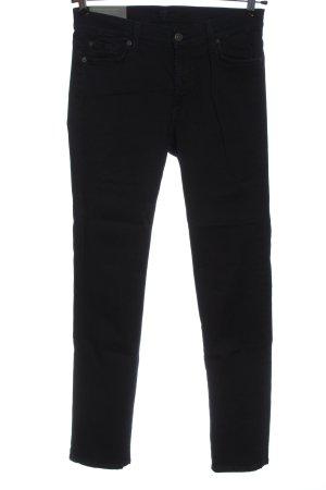 7 For All Mankind Pantalon taille haute noir style décontracté