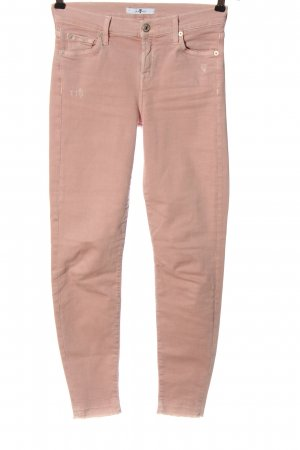7 For All Mankind High Waist Trousers pink casual look