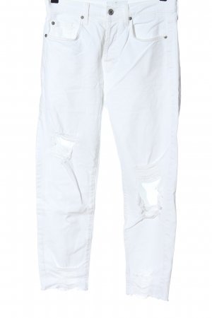 7 For All Mankind Jeans a vita alta bianco stile casual