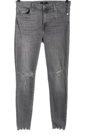 7 For All Mankind High Waist Jeans hellgrau Casual-Look