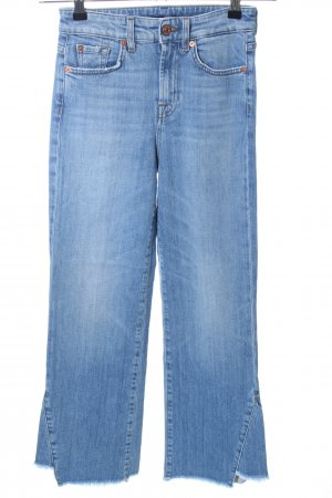 7 For All Mankind Hoge taille jeans blauw straat-mode uitstraling