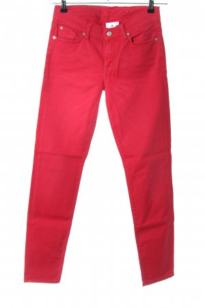 7 For All Mankind High Waist Jeans rot Casual-Look