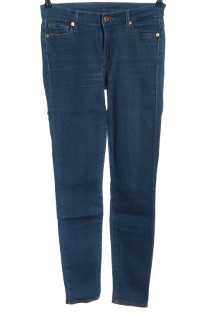 7 For All Mankind Vaquero de talle alto azul look casual