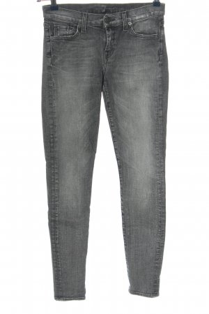 7 For All Mankind Hoge taille jeans lichtgrijs-zwart casual uitstraling