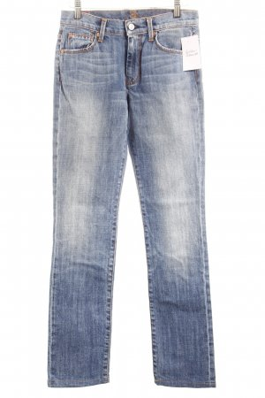 7 For All Mankind High Waist Jeans blau Washed-Optik