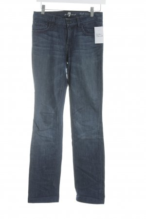 7 For All Mankind High Waist Jeans dunkelblau Street-Fashion-Look