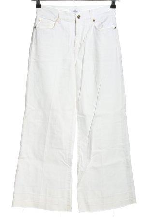 7 For All Mankind Jeansy z wysokim stanem biały W stylu casual