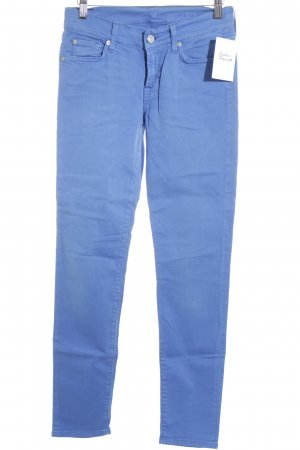 7 For All Mankind High Waist Jeans neonblau Casual-Look