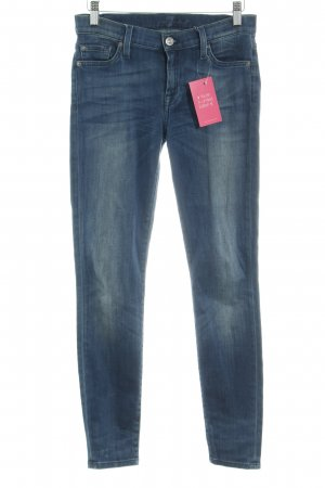 7 For All Mankind Jeansy z wysokim stanem stalowy niebieski Melanżowy