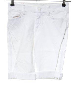 7 For All Mankind Szorty z wysokim stanem biały W stylu casual