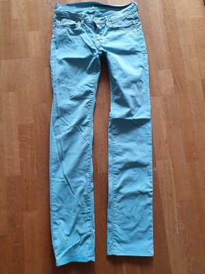 7 For All Mankind Low Rise Jeans turquoise