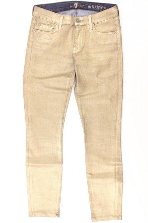 7 For All Mankind Pantalon doré coton