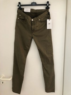 7 For All Mankind Pantalone jersey grigio-verde Lyocell