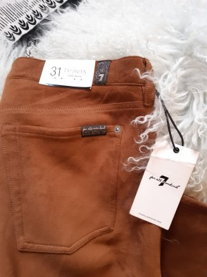 7 For All Mankind Drainpipe Trousers brown