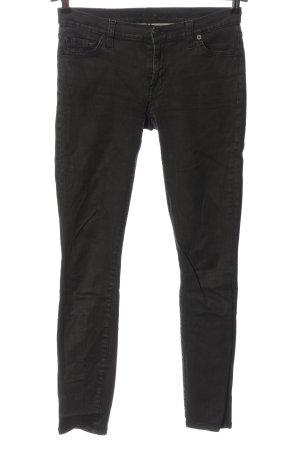 7 For All Mankind Pantalone a vita bassa nero stile casual