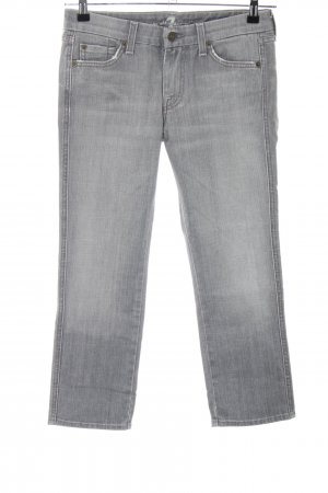 7 For All Mankind pantalón de cintura baja gris claro look casual