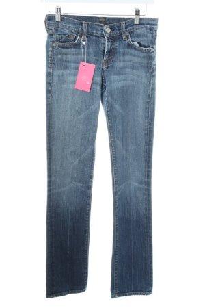 7 For All Mankind Hüfthose blau Street-Fashion-Look