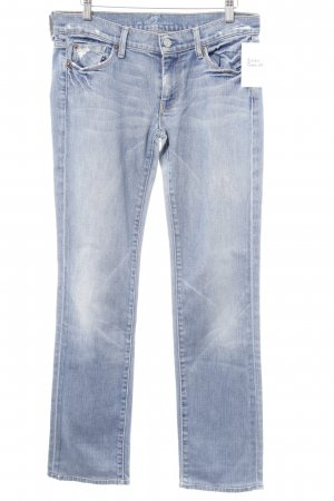 7 For All Mankind Hüfthose graublau Bleached-Optik