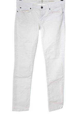 7 For All Mankind Jeans vita bassa bianco stile casual