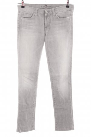 7 For All Mankind Hüftjeans hellgrau Casual-Look