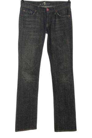 7 For All Mankind Jeans taille basse noir style décontracté