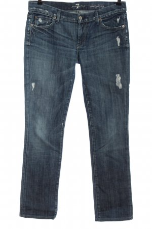7 For All Mankind Jeans taille basse bleu style décontracté