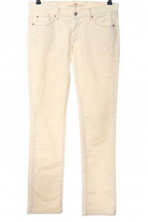 7 For All Mankind Hüftjeans creme Casual-Look