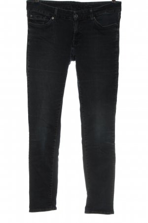 7 For All Mankind Hüftjeans schwarz Casual-Look