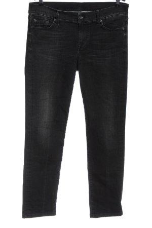 7 For All Mankind Jeansy biodrówki czarny W stylu casual