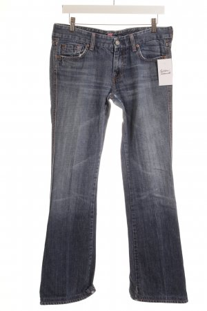7 For All Mankind Hüftjeans blassblau Street-Fashion-Look