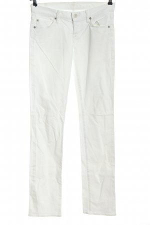 7 For All Mankind Jeans taille basse blanc style décontracté