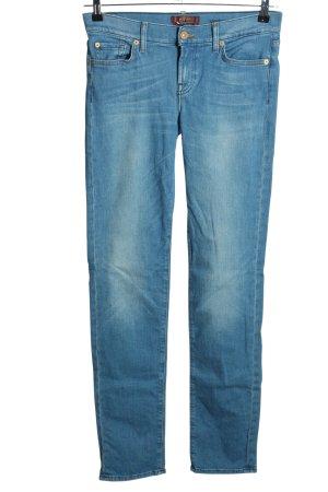 7 For All Mankind Jeansy biodrówki niebieski W stylu casual