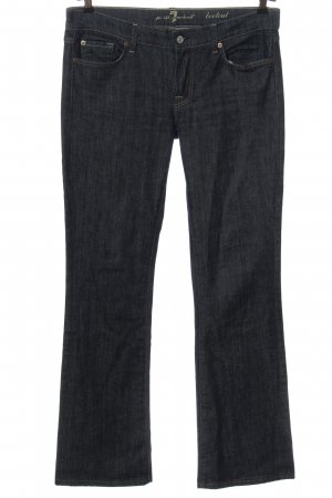 7 For All Mankind Jeans vita bassa blu motivo a righe stile casual