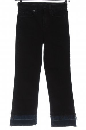 7 For All Mankind Jeans a 7/8 nero stile casual