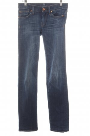 7 For All Mankind Hüftjeans blau schlichter Stil
