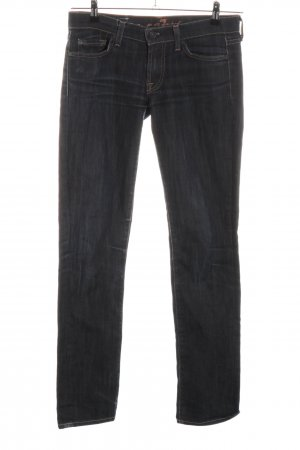 7 For All Mankind Low Rise Jeans black flecked casual look