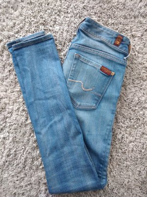 7 For All Mankind Jeans skinny bleu