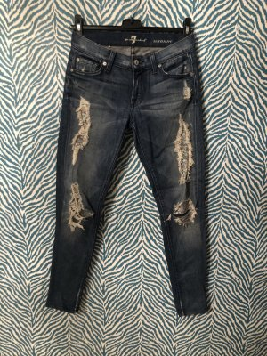 7 for all mankind jeans 24 destroyed look