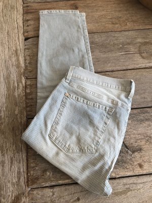 7 For All Mankind Jeans elasticizzati bianco-blu Tessuto misto
